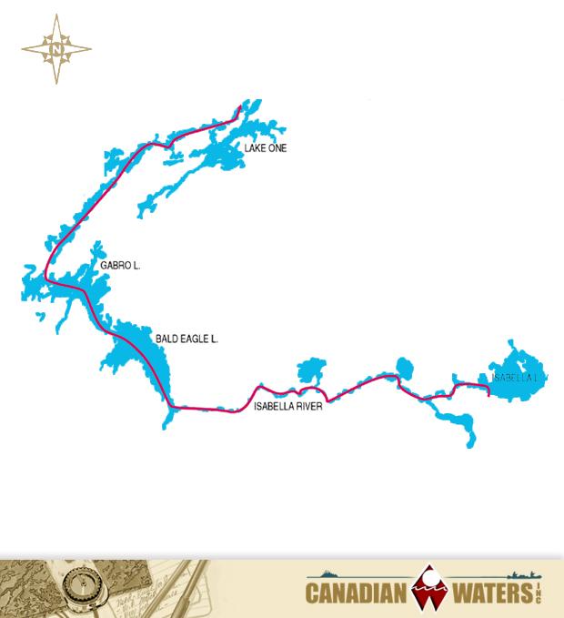 Isabella Lake, Bald Eagle Lake, Kawishiwi River & Lake One