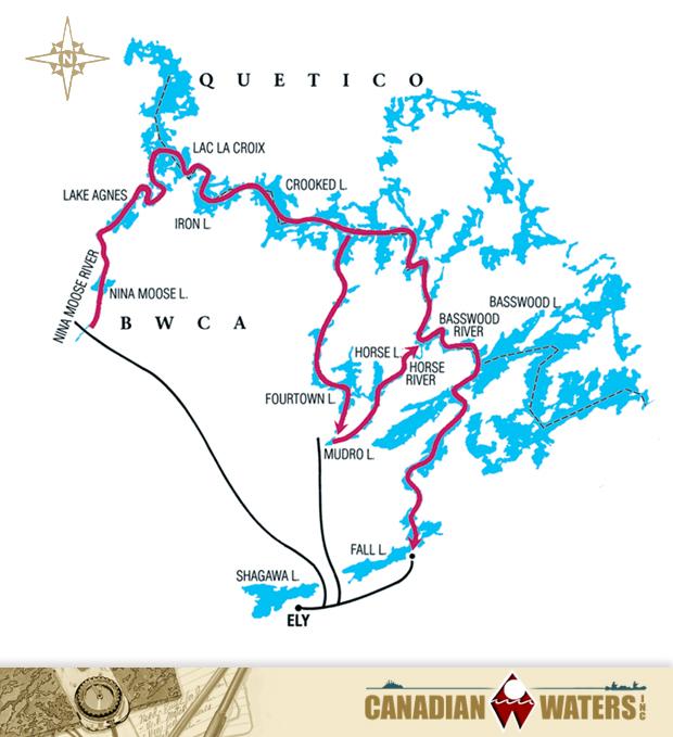 Moose River, Crooked Lake, Basswood Lake